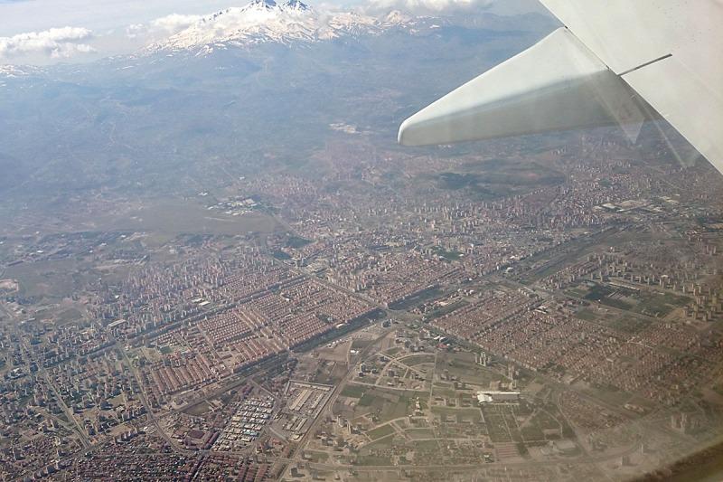 Anflug auf Kayseri.