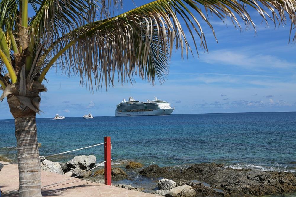 Der Blick von außen auf die Freedom of the Seas.