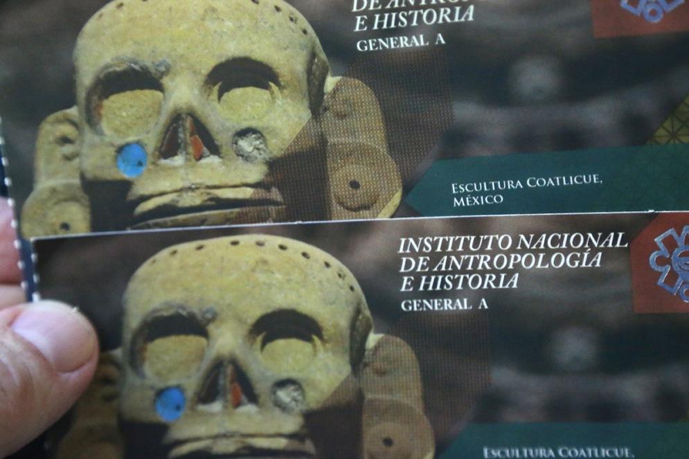 Eintrittskarten zu den antiken Stätten von San Gervaiso auf Cozumel.