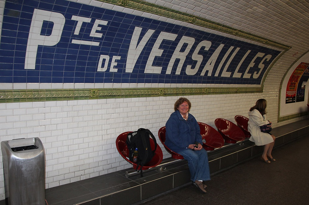 Metrostation Porte de Versailles.