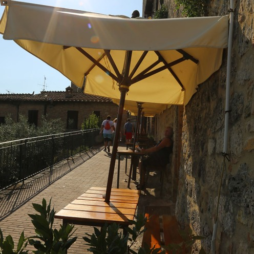 """Divinorum Winebar"" in San Gimignano."