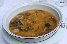 """Minestrone im Restaurant """"La Griglia"""" in San Gimignano."""