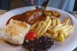 Currywurst vom Schwein! (Foto: wukomm)
