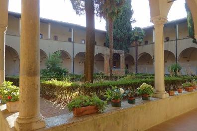 Kreuzgang San Agostino San Gimignano.