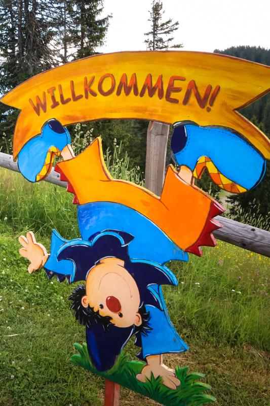 Ein Erlebnisweg extra für Kinder gestaltet, erhöht den Spaß am Wandern.