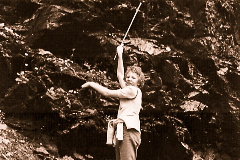 Urlaubsalltag 1973 - jeden Tag war Wandern angesagt.
