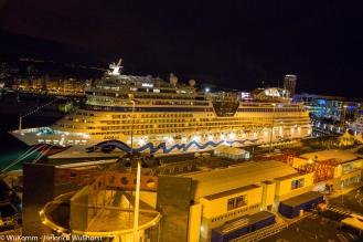 AIDA Sol, unser Nachbar im Hafen von Las Palmas