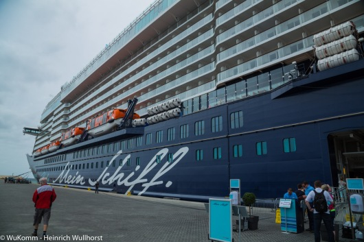 Mein Schiff 4 im Hafen von Praia.