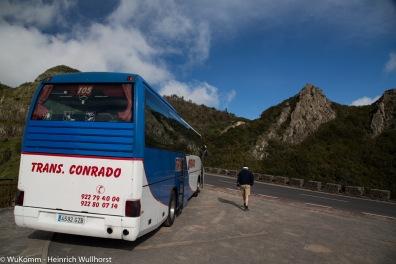 Unterwegs mit dem Bus.