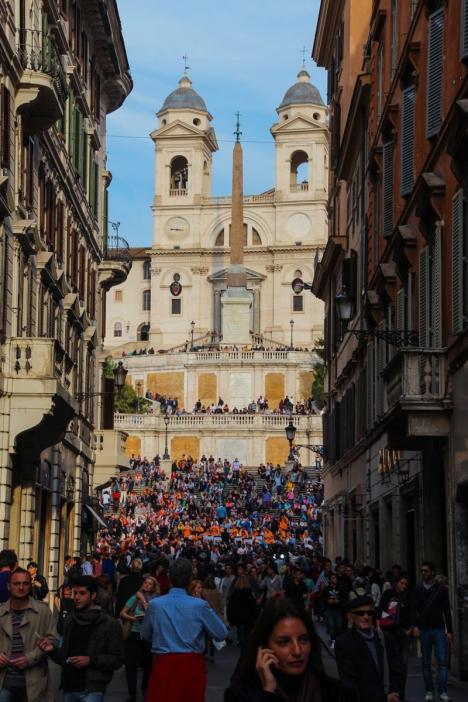 PIazza di Spagna mit Spanischer Treppe (Foto: wukomm)