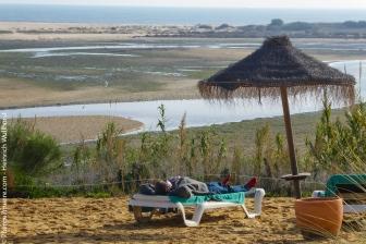 Ria Formosa: Blick von der Strandbar des Robinson Clubs Quinta da Ria