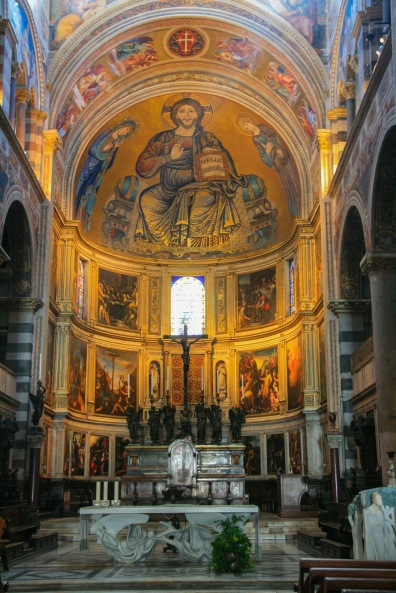 Apsis mit Christus Mosaik.