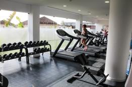 Fitnessraum im Sensimar Cabo Verde.